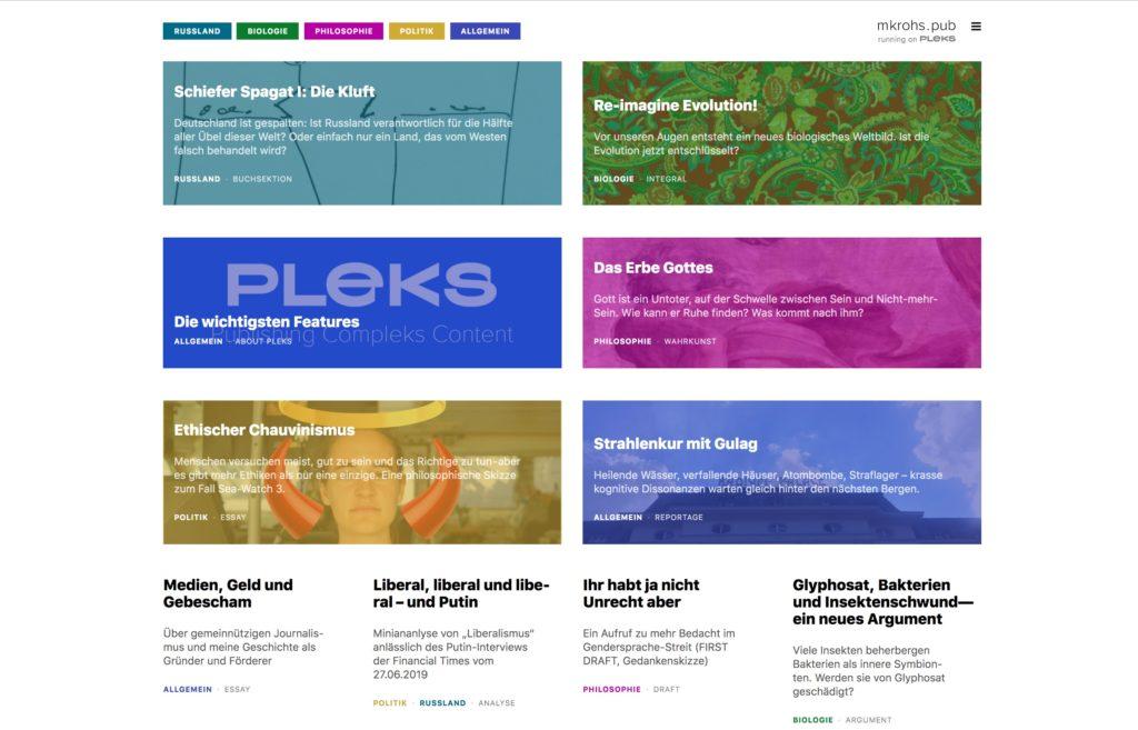 screenshot Pleks